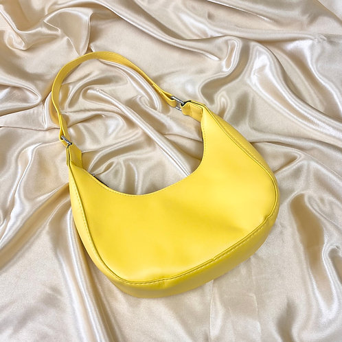 Yellow Mini PU Shoulder Bag