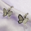 Thumbnail: Silver Butterfly Hoop Earrings