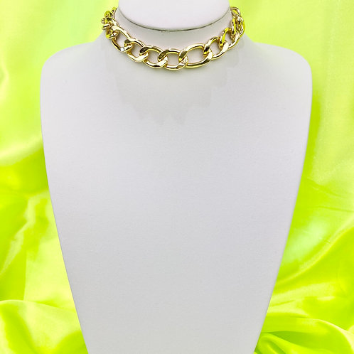 Gold Super Chunky Chain Choker Necklace
