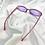 Thumbnail: Purple Clear Oval Sunglasses