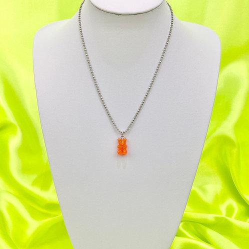 Orange Red Gummy Bear Necklace