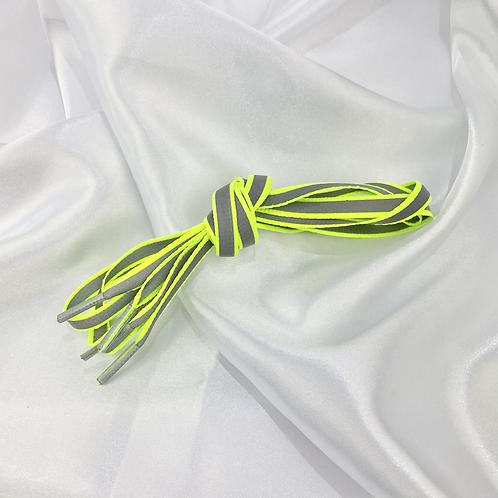 Green Retro Reflective Laces