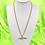 Thumbnail: Gold Rhinestone Gun Necklace