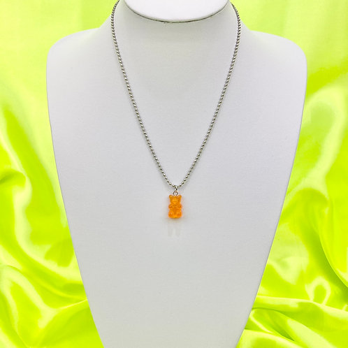 Orange Gummy Bear Necklace