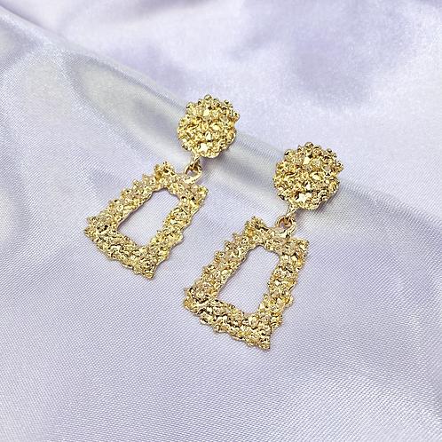 Gold Mini Statement Earrings
