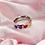 Thumbnail: Rainbow Heart Dome Ring