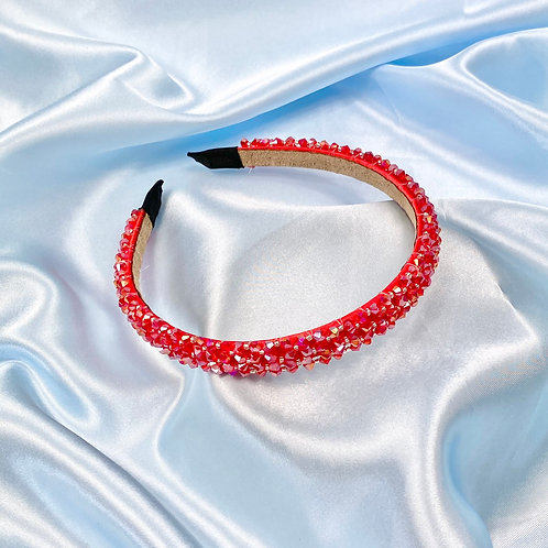 Red Luxury Bead Headband