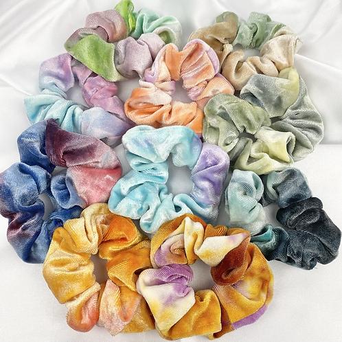 Random Tie Dye Velvet Scrunchie
