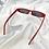 Thumbnail: Red Retro Rectangle Sunglasses