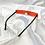 Thumbnail: Red Retro Frameless Rectangle Sunglasses