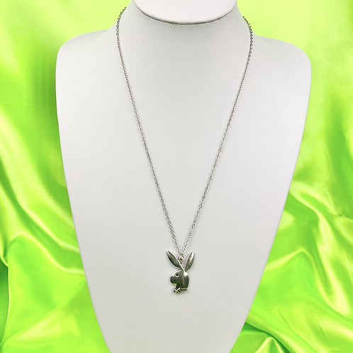 Silver Boujee Bunny Necklace