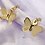 Thumbnail: Gold Butterfly Hoop Earrings