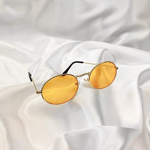 Orange Wide Oval Sunglasses