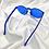 Thumbnail: Blue Round Frameless Sunglasses