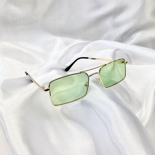 Green Grandad Sunglasses