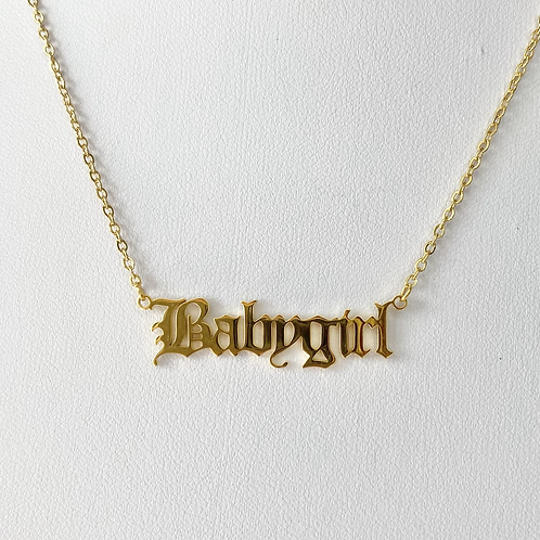Gold Babygirl Necklace