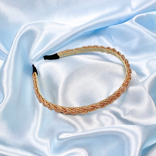 Champagne Twisted Bead Headband