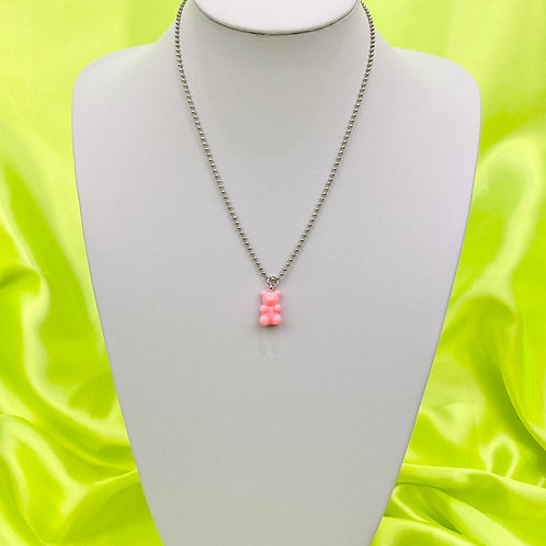 Light Pink Gummy Bear Necklace