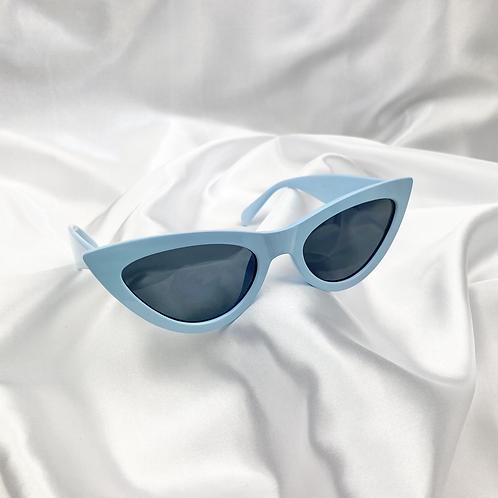 Blue Cat Eye Sunglasses