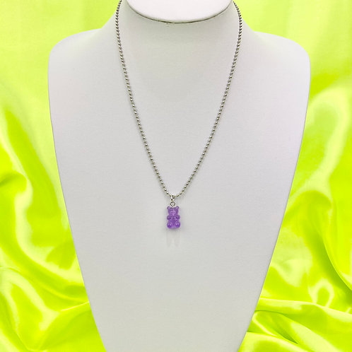 Purple Gummy Bear Necklace
