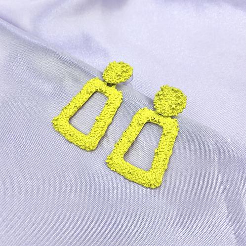 Yellow Mini Statement Earrings