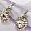 Thumbnail: Pink Rhinestone Gem Heart Hoop Earrings