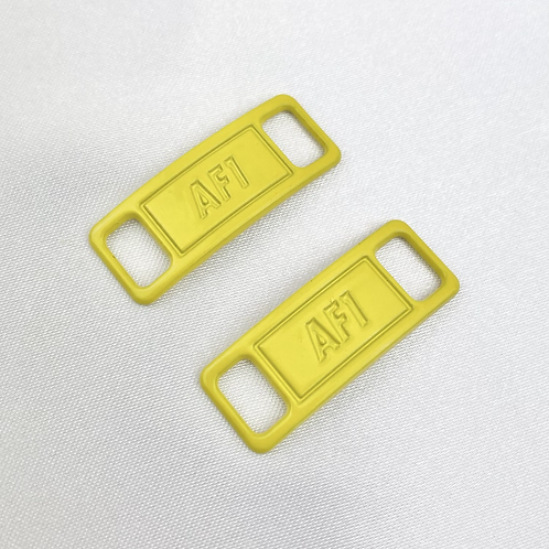 Yellow AF1 Shoe Lace Buckle