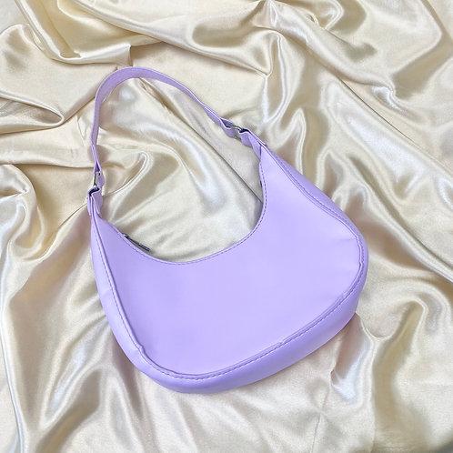 Lilac Mini PU Shoulder Bag