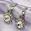 Thumbnail: Silver Rhinestone Gem Hoop Earrings