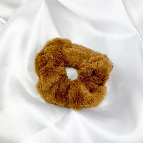 Brown Fur Scrunchie