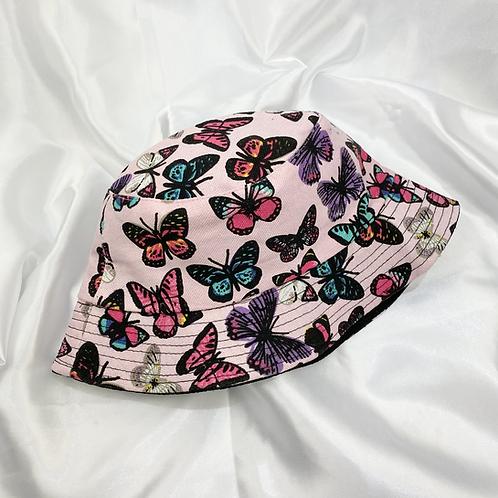 Pink Butterfly Bucket Hat