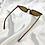Thumbnail: Tortoseshell Clear Slim Rectangle Cat Eye Sunglasses