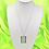 Thumbnail: Silver Square Rose Necklace