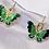Thumbnail: Green Butterfly Hoop Earrings