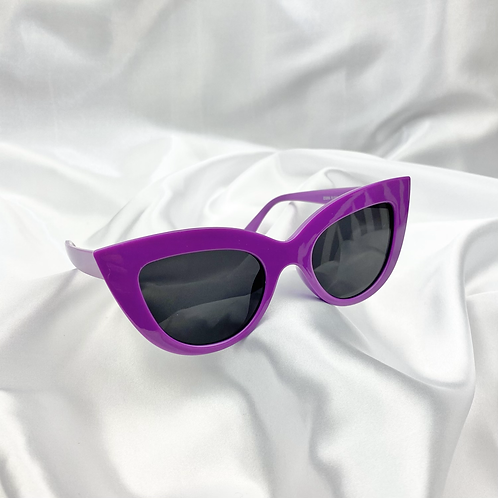 Purple Round Cat Eye Sunglasses