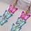 Thumbnail: Blue & Pink Y2K Triple Butterfly Earrings
