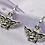 Thumbnail: Silver Angel Hoop Earrings