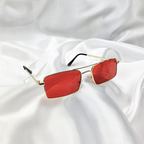 Red Grandad Sunglasses