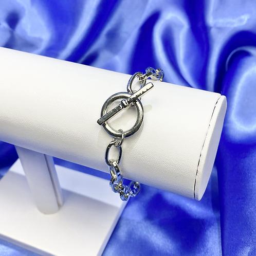 Silver Chunky Toggle Bracelet