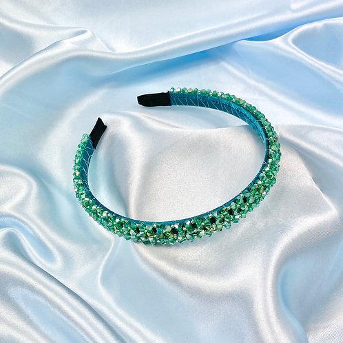 Green Blue Luxury Bead Headband