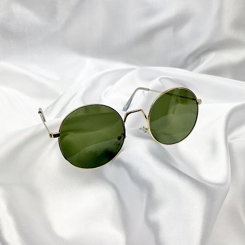 Khaki Round Sunglasses