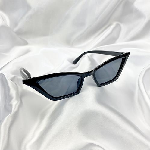 Black Rectangle Cat Eye Sunglasses