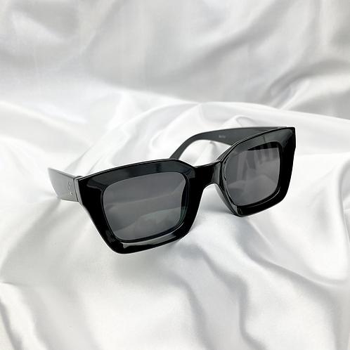 Black Statement Square Sunglasses