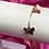 Thumbnail: Gold Dainty Link Up Dangly Butterfly Anklet