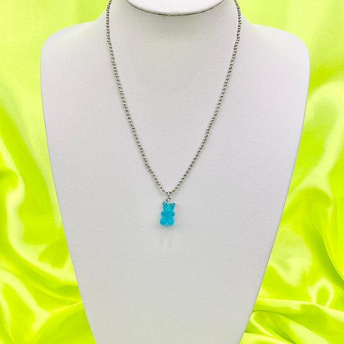 Blue Gummy Bear Necklace
