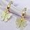 Thumbnail: White Glitter Rhinestone Butterfly Hoop Earrings