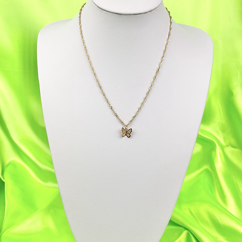 Gold Dainty Butterfly Necklace
