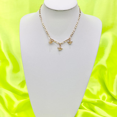 Gold Dainty Cherub Angel Necklace