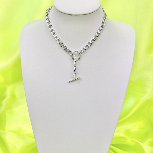Silver Toggle Necklace