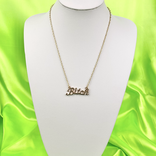 Gold Bitch Necklace